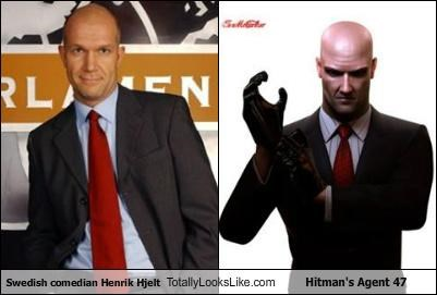 Swedish Comedian Henrik Hjelt Totally Looks Like Hitman's Agent 47