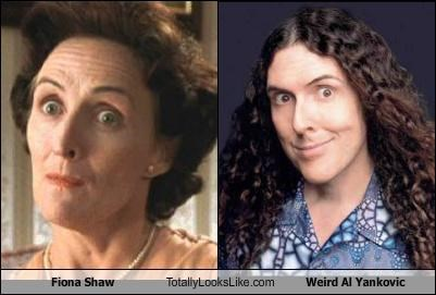 Fiona Shaw Totally Looks Like Weird Al Yankovic