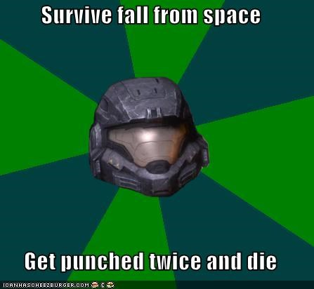 girl,halo,Memes,noble 6,punched,space,video games