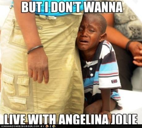 adoption,africa,Angelina Jolie,celeb,crying,kids,roflrazzi,Sad