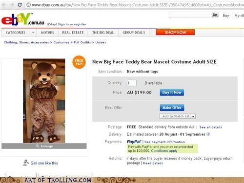 costume,for sale,pedobear,shoppers beware,teddy bear