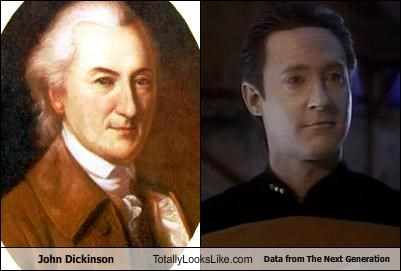 John Dickinson Totally Looks Like Lieutenant Commander Data