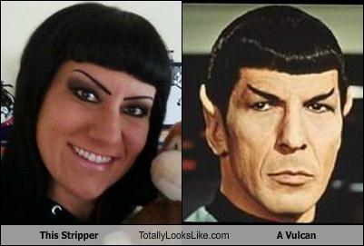 bad makeup,eyebrows,Leonard Nimoy,Spock,stripper,Vulcan