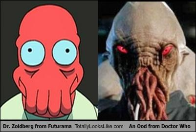 Dr. Zoidberg from Futurama Totally Looks Like An Ood from Doctor Who