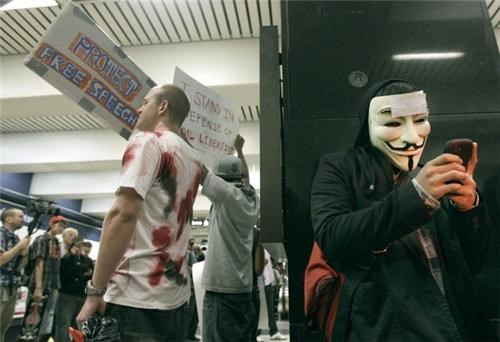 Anonymous BART Protests of the Day