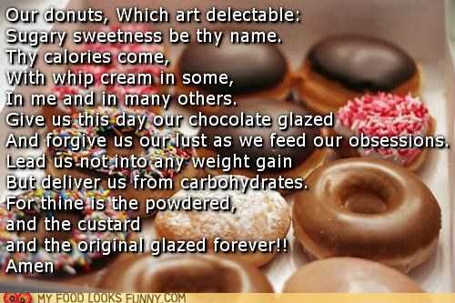 We Will End Today's Breakfast With the Donut's Prayer