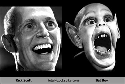 Rick Scott Totally Looks Like Bat Boy