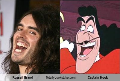 captain hook,celeb,disney,funny,Russell Brand,TLL