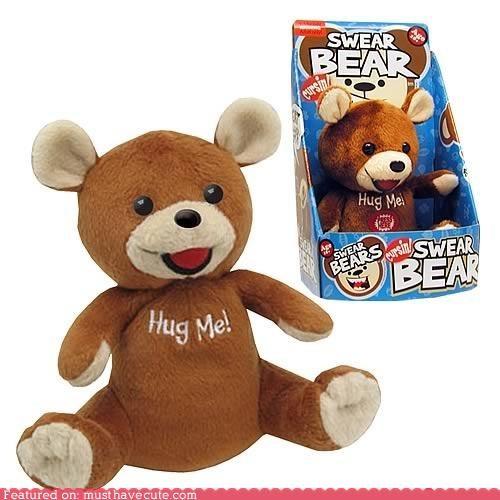 bad words,bear,curse,swear,talking,teddy bear