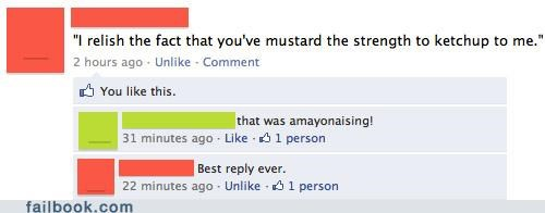 condiments,witty reply