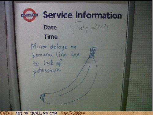 banana,IRL,potassium,service information,sign