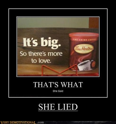 SHE LIED