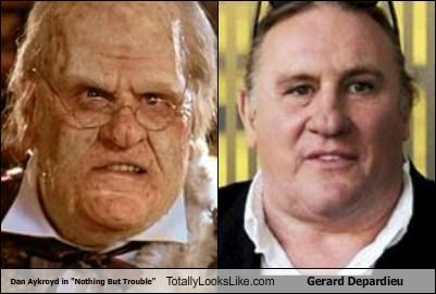 "Dan Aykroyd in ""Nothing But Trouble"" Totally Looks Like Gerard Depardieu"
