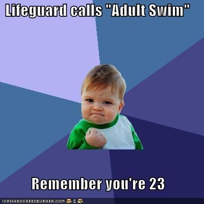 Success Kid: Swim ALL the Time!