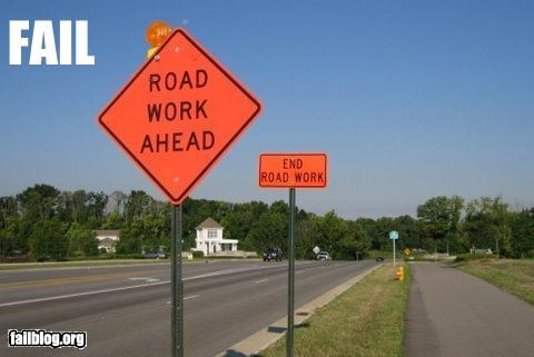 Road Work FAIL