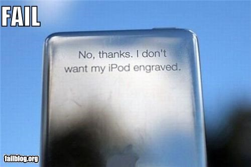 CLASSIC: iPod Engraving FAIL