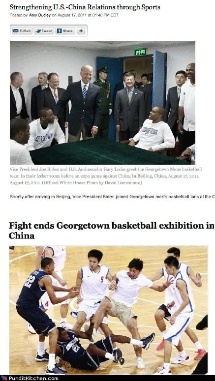 basketball,China,georgetown,joe biden,political pictures,sports