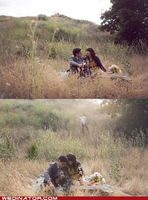 bride,funny wedding photos,groom,Hall of Fame,picnic,zombie
