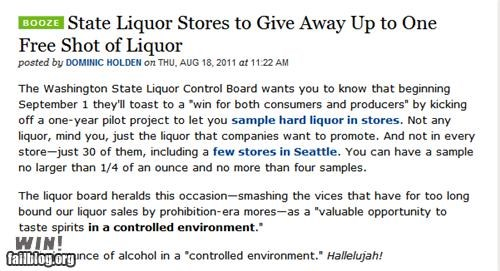 alcohol,completely relevant news,free stuff,government,liquor,seattle