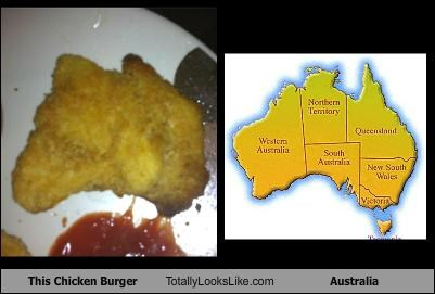 This Chicken Burger Totally Looks Like Australia