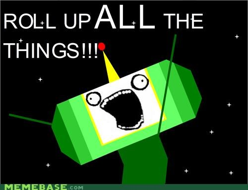 all the things,cosmos,damacy,katamari,roll,video games