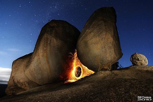 Balancing Rock of Fire