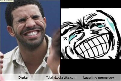 Drake Totally Looks Like Laughing Meme Guy
