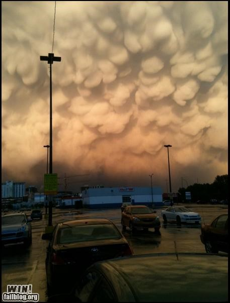 Mother Nature FTW: Cloud Wall