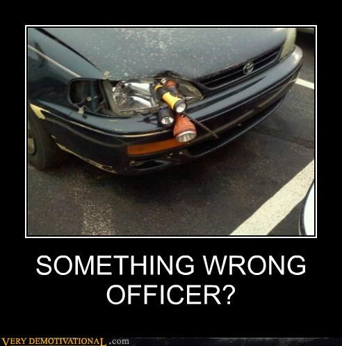 SOMETHING WRONG OFFICER?