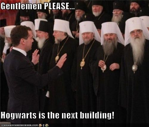 Gentlemen PLEASE...  Hogwarts is the next building!