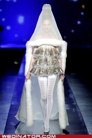 bridal couture,bridal fashion,funny wedding photos,jean-paul gaultier,wedding fashion