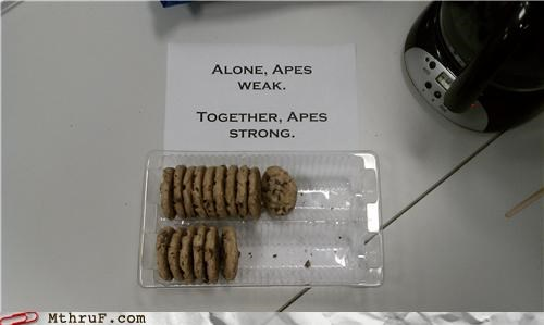 breakroom,cookies,Planet of the Apes,sign