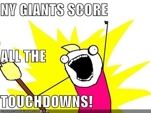 NY GIANTS SCORE ALL THE TOUCHDOWNS!