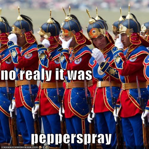 no realy it was pepperspray