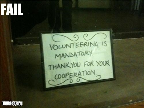 Volunteering FAIL