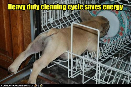 Heavy duty cleaning cycle saves energy