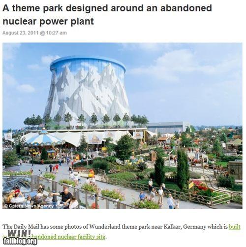amusement park,completely relevant news,nuclear,nuclear power,theme park