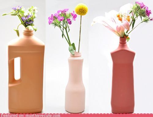 bottles,cleaning,plastic,porcelain,vases