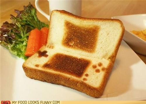 bread,ds,nintendo,nintendo ds,snack,toast