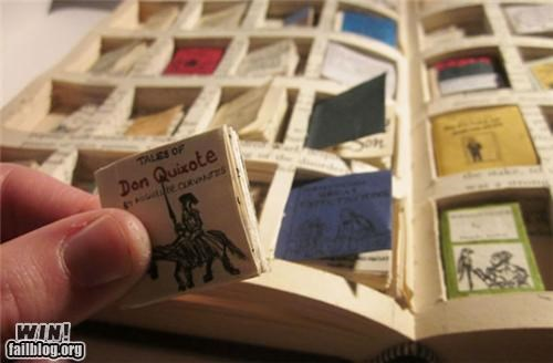 art,books,Inception,miniature,model,reading