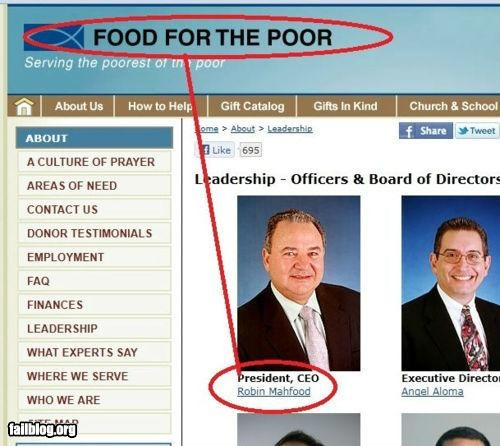 Food Bank President FAIL