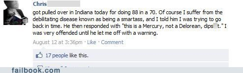 Failbook: Once This Baby Hits 88, You're Gonna Hear Some Serious Sarcasm!