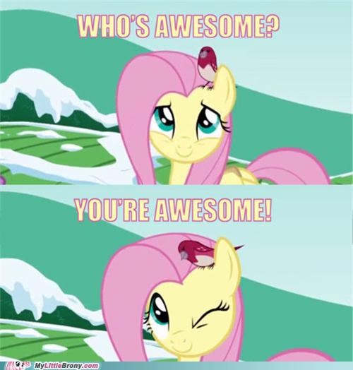 Aww. Thanks, Fluttershy