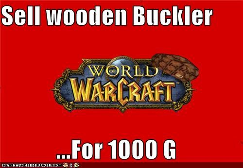 Sell wooden Buckler  ...For 1000 G