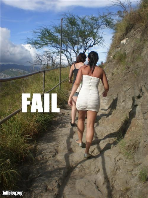 Hiking Attire FAIL
