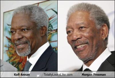 actors,classics,kofi annan,Morgan Freeman,political,United Nations