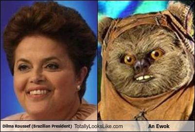 Dilma Roussef (Brazilian President) Totally Looks Like An Ewok