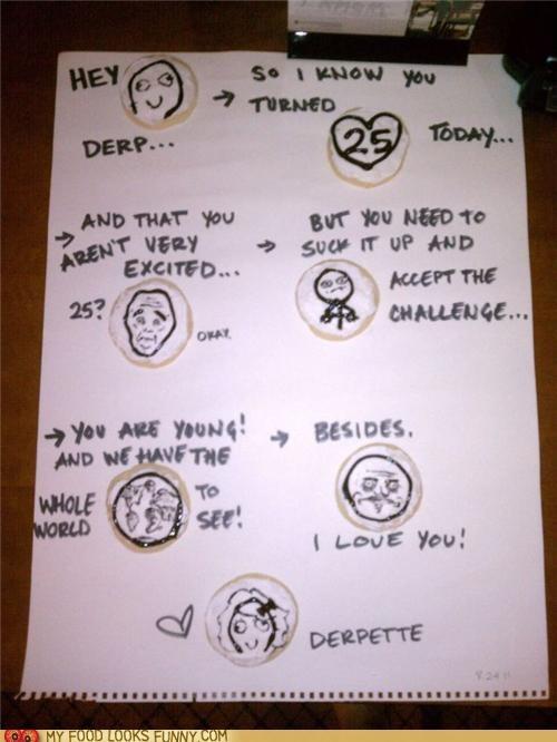 birthday,cookies,derp,drawings,love,Rage Comics