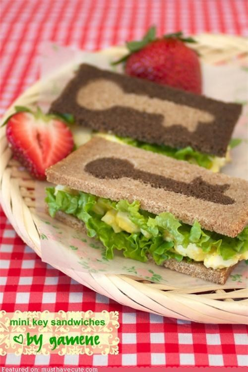 bread,design,epicute,key,puzzle,sandwiches