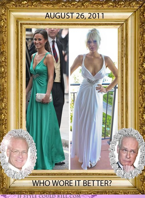 cool accessories,lindsay lohan,pippa middleton,Tim Gunn,who wore it better